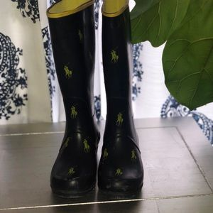 Boys Polo Ralph Lauren Rainboots Size 13